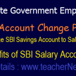 SBI State Govt. Employees Salary Account Change Process, Benefits, Application form