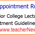 JLs Appointment Rules 2018 Download Govt Junior College Lecturers Appointment Guidelines