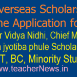 TS Overseas Scholarship scheme Online Applications for SC, ST, BC, Minority Students Foreign studies