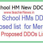 High School HM New DDO Codes - List of HS HMs DDOs Proposed for Merging