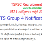 TS Group 4 Notification 2018- Fill 1521 Junior Assistant Junior Steno Typist | Apply Now