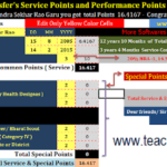 TS Teachers Transfers Points Calculate Software 2020 How to Know Transfers Points in Your Mobile