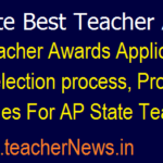 AP State Best Teacher Awards 2018 Application form, Selection process, Proposal Guidelines