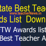 AP State Best Teacher Awards List 2019 - NFTW Awards list 2019