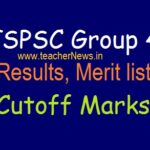 TSPSC Group 4 Results (Merit list) 2019 (Announced)   Selected Candidates List & Cutoff Marks