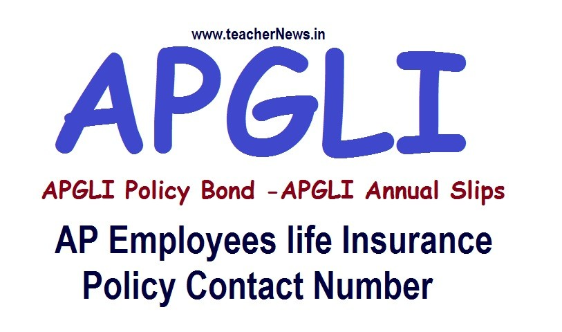 APGLI Policy Bond / Annual Slips/ Status | AP Employees life Insurance Policy Contact Number