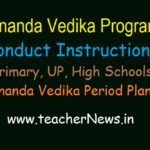 Ananda Vedika Day wise Program Instructions in AP Schools | Ananda Vedika Period Plan