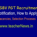 KGBV PGT Recruitment Notification 2019 | Apply for KGBV Junior Colleges as Lecturers Vacancies