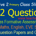 Formative II/ FA 2 - 1st, 2nd, 3rd, 4th, 5th Class CCE Model question Papers 2019