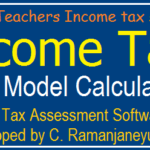 Teachers Income Tax Model Calculation for AP/ Telangqana Employees IT Savings 2019-20