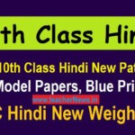 AP 10th Class Hindi New Pattern Model Papers, Blue Print - SSC Hindi New Weightage 2020