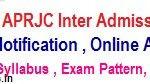 APRJC Hall Tickets 2020   APRJC CET Inter Admission Test Hall tickets @ aprjdc.apcfss.in