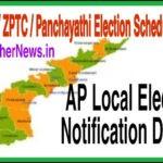 AP MPTC / ZPTC / Panchayat Elections Schedule 2020   AP Local Election Notification, Reservation Details