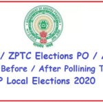 MPTC/ ZPTC Elections PO / APO Duties Before / After Pollining Time | AP Local Elections 2020