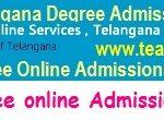 TS Degree Online Admission Apply Process 2020 - DOST BA B.Sc B.Com Web Option Schedule