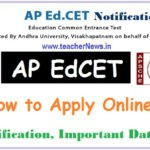 How to Apply AP EdCET 2020 Online Application | AP EdCet Notification Dates Fee Particulars