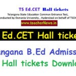 TS Ed.Cet Hall tickets 2020 | Telangana Edcet Hallticket, Exam Date @ edcet.tsche.ac.in