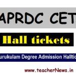 APRDC 2020 Hall Tickets aprjdc.apcfss.in   AP Gurukulam Degree Admission Halltickets 2020