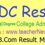 APRDC Results 2020   APRDC CET Degree Results, Merit List, Cutoff Marks @ aprs.cgg.gov.in