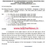 AP Schools Summer holidays declared by School Education upto 11th, June 2020