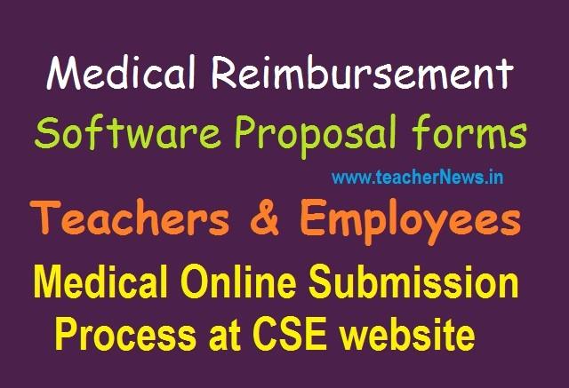 Teachers Medical Reimbursement Software Proposal forms for AP Telangana Employees 2020